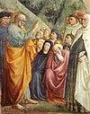 Cappella brancacci, Predica di San Pietro (restaurato), Masolino.jpg