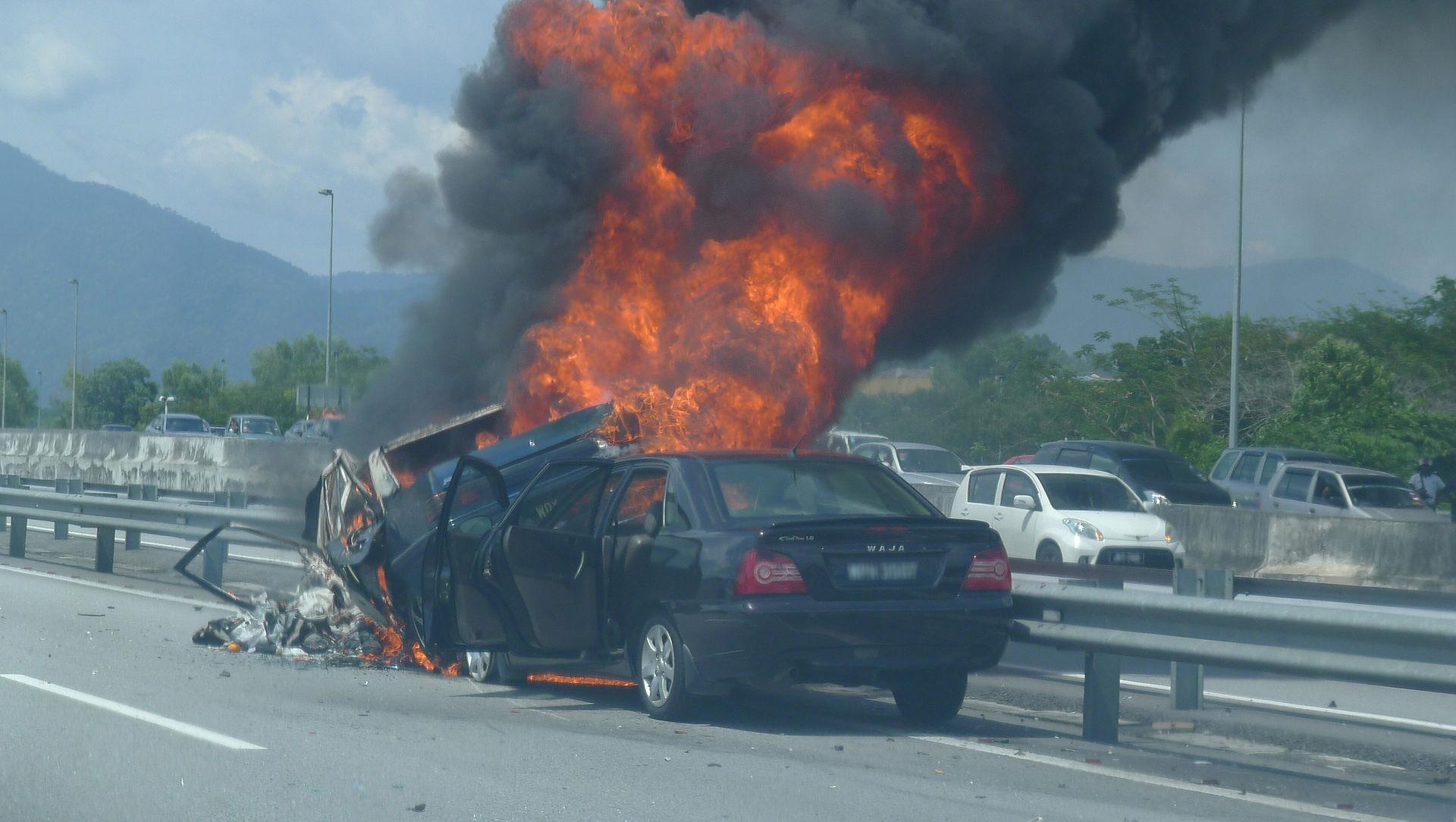 Auto Wreck on freeway