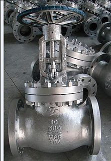Globe valve Type of device for blocking or regulating the flow of fluids