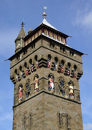 Castle Quarter - Image: Cardiff Castle clock tower