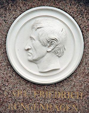 Carl Friedrich Rungenhagen - Detail of his grave stone