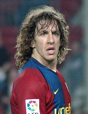 2007–08 FC Barcelona season - Carles Puyol, the captain of FC Barcelona in the 2007-08 season.