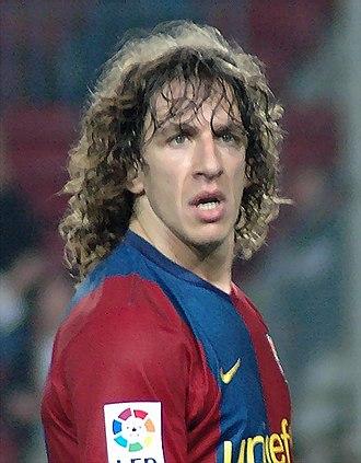 2007–08 FC Barcelona season - Carles Puyol, the captain of FC Barcelona in the 2007-08 season.
