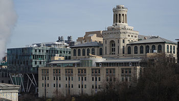 Carnegie Mellon Hamerschlag Hall and Scott Hall.jpg