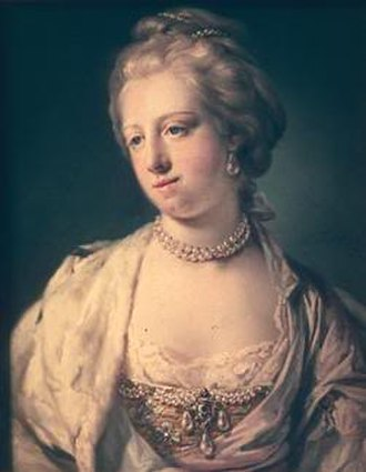 Caroline Matilda of Great Britain - Pastel by Francis Cotes, 1766