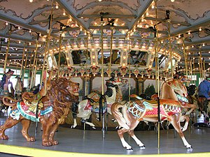 Glen Echo Park, Maryland - Animals on the carousel