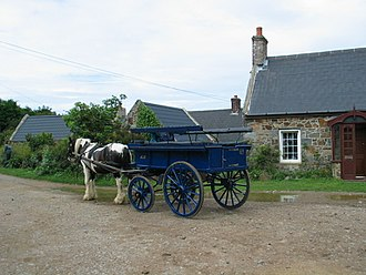 Sark - A horse-drawn carriage on Sark