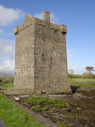 Tibbot ne Long Bourke, 1st Viscount Mayo - Rockfleet Castle, main base of Risteard an Iarainn