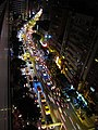 Cars moving on Keelung Road in Taipei on the last night of 2016.jpg