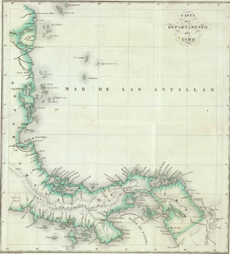 Isthmus Department - Map of the Isthmus Department