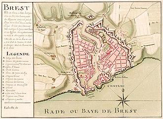 Brest, France - Brest in c1700
