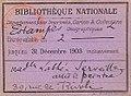 Carte de lecteur - Estampes 1903 Labbé-Serveille.jpg