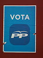 Cartel electoral del PP en Siruela, Badajoz (Elecciones europeas de 2014).jpg
