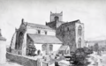Cartmel Priory - view from the south-west - F. L. Griggs.png