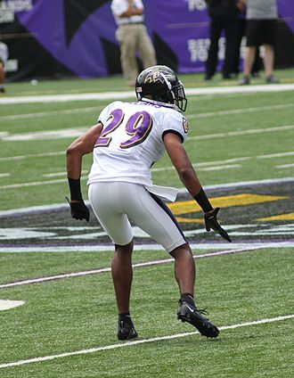 Cary Williams - Williams during Training Camp practice at M&T Bank Stadium in 2011.
