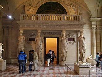 Minstrels' gallery - The elaborate minstrels' gallery in the Salle des Caryatides, Palais du Louvre, Paris.