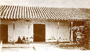 Casa de Tucumán - Entrance to the room where the Independence was declared, by Angel Paganelli, 1869.