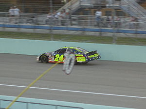 01fa378095ee Casey Mears racing in the 2007 Ford 300 at the Homestead-Miami Speedway.