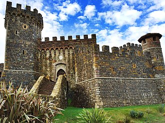 Castello di Amorosa - Front entrance to the Castello di Amorosa Winery.