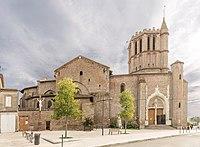 Castelsarrasin - Eglise Saint-Sauveur - Vue de la Place de la Raison.jpg