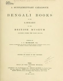 Catalogue of Bengali printed books in the library of the British Museum.djvu