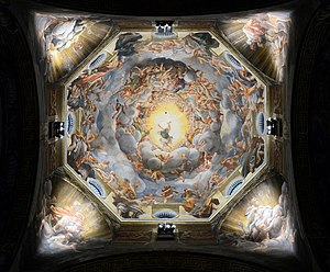 Assumption of the Virgin (Correggio) - Image: Cathedral (Parma) Assumption by Correggio