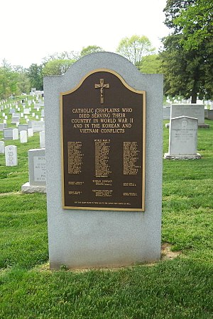 Roman Catholic Archdiocese for the Military Services, USA - The Catholic chaplains' monument on Chaplains Hill in Arlington National Cemetery.