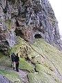 Caves overlooking the Allt nan Uamh - geograph.org.uk - 759532.jpg