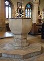 Caythorpe St Vincent - Baptismal font.jpg