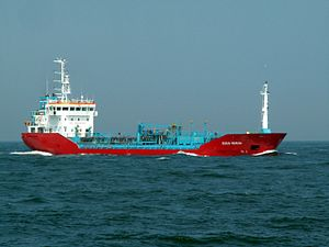 Cecilie Theresa IMO 9260550 approaching Port of Rotterdam, Holland.jpg