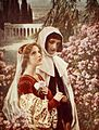Cesare Saccaggi - Dante e Beatrice in giardino.jpg