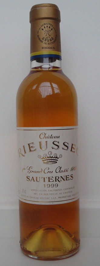Château Rieussec - A half bottle of 1999 Château Rieussec.