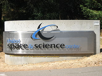 Chabot Space and Science Center - The sign at the entrance of the Chabot Space and Science Center.