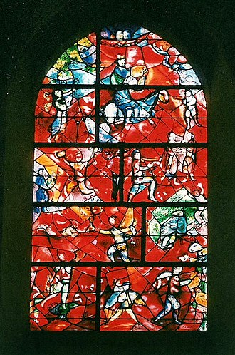 Chichester Cathedral - Stained-glass window by Marc Chagall