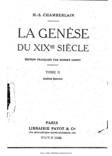 File:Chamberlain - La Genèse du XIXe siècle, tome 1.djvu