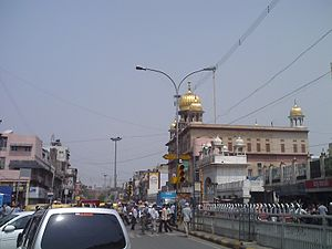 Chandni chowk with sisganj gurudwara