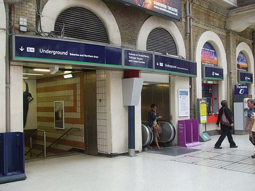 Charing Cross main line stn tube station entrance