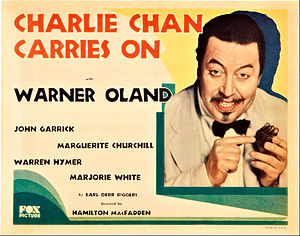Charlie Chan Carries On (film) - Lobby card