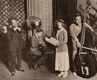 Charlie Chaplin, Sidney Patrick Grauman, Mary Pickford, Douglas Fairbanks - Jun 1920 EH.jpg