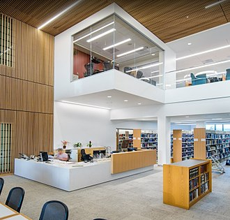 Santa Clara University School of Law - Charney Hall - Law Library Reference Desk