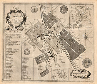 Uppsala - Map of Uppsala from 1770