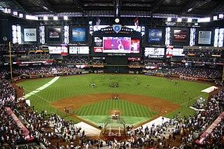 Chase Field baseball stadium in Phoenix, Arizona