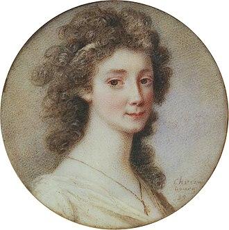Sophie Piper - Portrait of Sophie Piper by Charles Joseph de La Celle chevalier de Chateaubourg (1758-1837)
