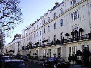 Belgravia District in central London, England