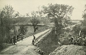 Battle of North Anna - Taylor's Bridge, also known as the Chesterfield Bridge, where the Telegraph Road crosses the North Anna River.