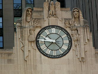 Chicago Board of Trade - Clock on the front of the building.