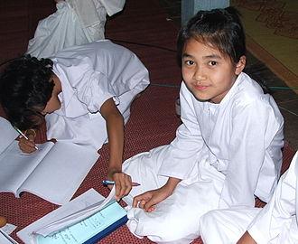 Samanera - A young Buddhist nun in Thailand