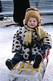 Child on a Sled Moscow 1964.jpg