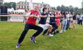 Children from the United States and the United Kingdom play tug-of-war at the residence of the U.S. ambassador to the United Kingdom in London, England during a fitness-themed event July 27, 2012 120727-F-UA873-101.jpg