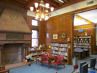 New London Public Library - The interior, showing the Children's Room
